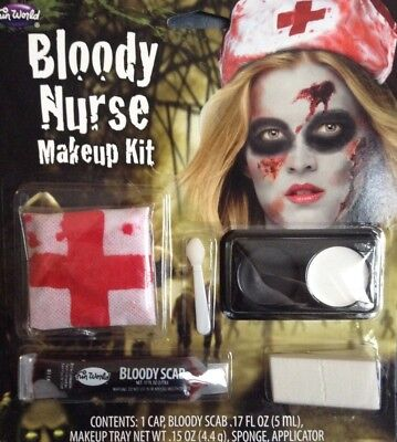 FUN WORLD HALLOWEEN BLOODY NURSE MAKEUP KIT NEW - Nurse Halloween Makeup