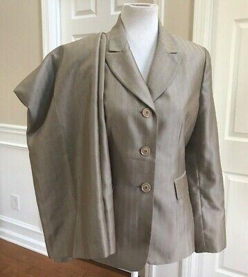 LE SUIT Women 2 PC Light Brown Striped Pant Suit Size 10