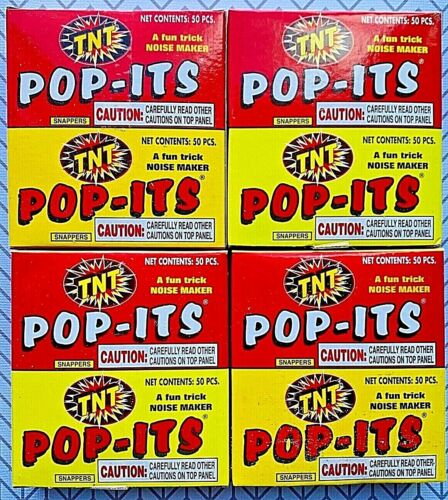 NEW TNT PARTY POP ITS Snappers July 4th NOISE Makers 4x (100 Ct/Pk) 400 Snaps!