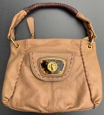 B MAKOWSKY Women's Tan Brown Genuine Leather Small Purse Handbag