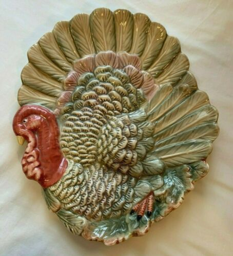 Vintage Kaldun & Bogle Thanksgiving Turkey Platter Holiday Hand Crafted