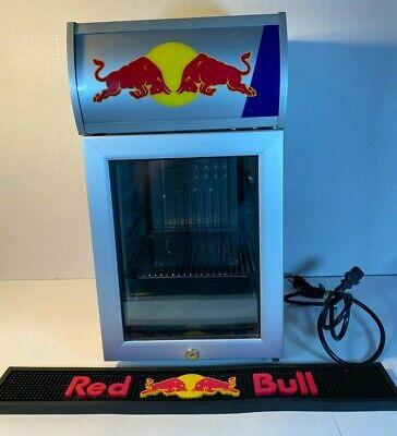 Red Bull Cooler Mini Fridge Refridgerator Rbi-bc2 Led With Bar Mat 105w