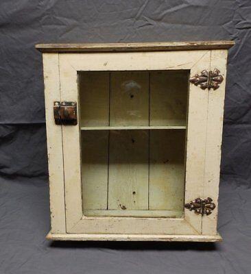 Antique Wood Surface Mount Medicine Cabinet Vintage Shabby Old Chic 126-18P