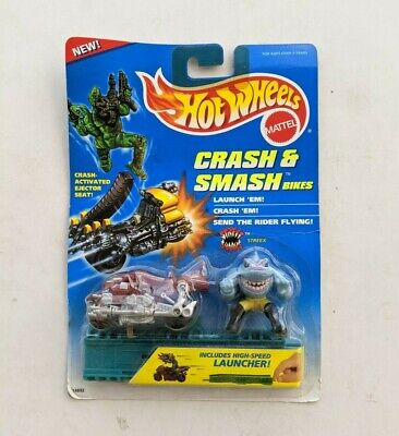 Street Sharks Streex Hot Wheels Crash & Smash Bikes 1995 MOC Mattel