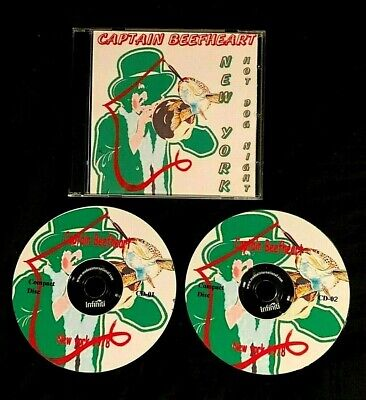 1978 CAPTAIN BEEFHEART LIVE IN NEW YORK 2 CD 2003 UK WITH BRUCE FOWLER OF ZAPPA