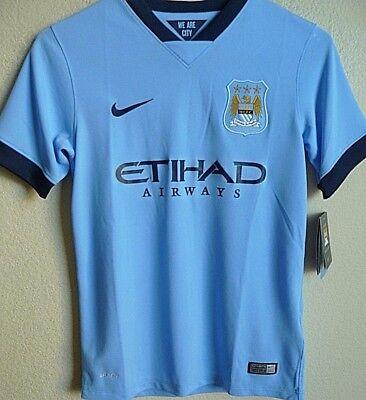 Boys 2014/15 Manchester City F.C. Soccer Jersey Boys M NWT 611056 image