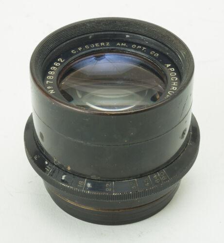 "Goerz 19"" (483mm) f/11 APOCHROMAT red dot ARTAR 8x10 lens"