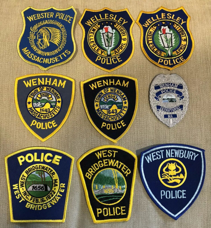 Massachusetts Police Patch Lot of 20 W's