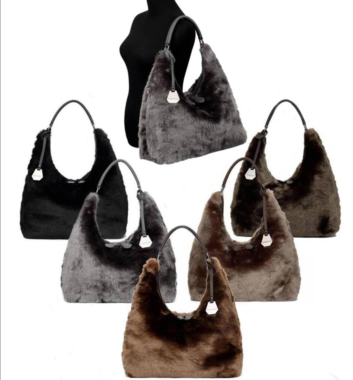 XXL HOBO BEUTEL Tasche Damentasche Handtasche SHOPPER IMITAT FELL groß NEU