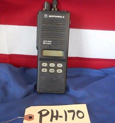 Motorola Mts2000 Model 2 800 Mhz Radio H01ucf6pw1bn - Missing Pixels -radio Only