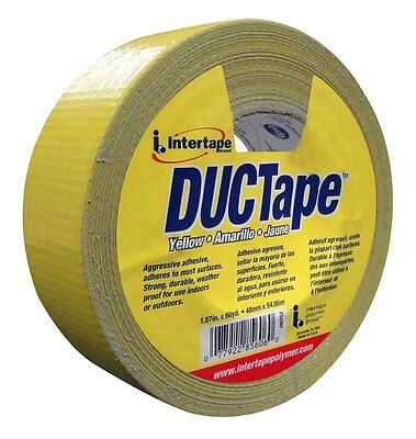 New Intertape - 20cyl2 - 1.87in X 60yd Yellow Duct Tape 48mm X 54.86m