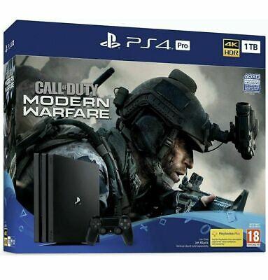 NEW PlayStation PS4 Pro 1TB Console - Call of Duty: Modern Warfare Bundle