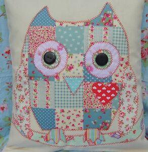 Sew yr own Applique Owl Cushion Kit ideal gift cotton fabric bird 12