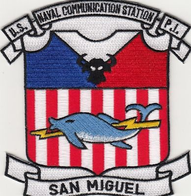 US NAVAL COMMUNICATIONS STATION, SAN MIGUEL, P.I. military PATCH