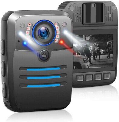 1296P HD Body Worn Camera, Police Body Mounted Cam Hidden Camera with Audio...