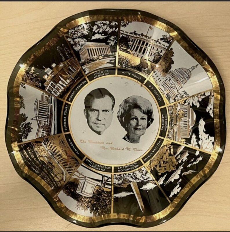 Rare Vintage Houze Art President Nixon ashtray - candy dish - trinket dish