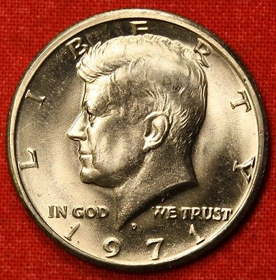 1971 D KENNEDY HALF DOLLAR FROM OBW BU  BEAUTIFUL COLLECTOR COIN GIFT KH52