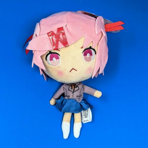 "Doki Doki Literature Club Natsuki Plush Figure 8.5"" Plushie Doll DDLC PC Steam"