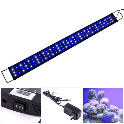 """LED SMD 48""""-60"""" Multi Color Aquaruim Fish Tank Light Extendable Bracket 2 Mode"""