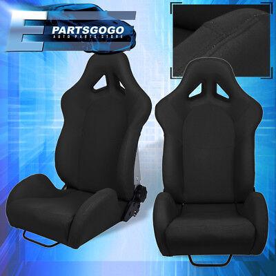 For Dodge Jeep Car Automotive Racing Bucket Seat Reclinable + Bottom Mount Slide for sale  La Puente
