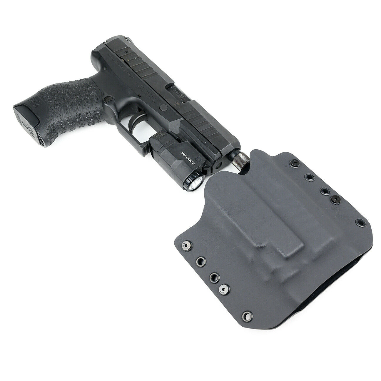 OWB Kydex Holster for Hanguns with INFORCE APLc - MATTE BLAC