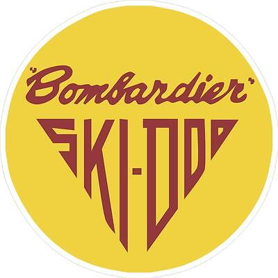 "#P244 (1) 6"" Ski-Doo skidoo Bombardier Vinyl Decal LAMINATED stickers"