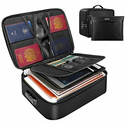 Engpow File Organizer Bag Fireproof Document Bags Portable Filing Storage