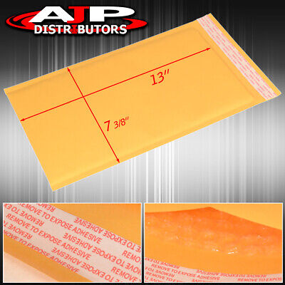 100 Piece Yellow Padded Bubble Envelopes 7 3/8 X 13 Inches