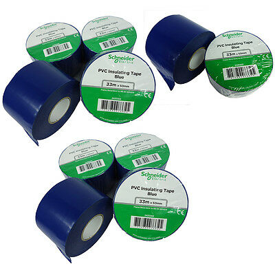 10 Roll 2x 36y Insulated Electrical Vinyl Pvc Sealing Tape Flame Retardant Blue