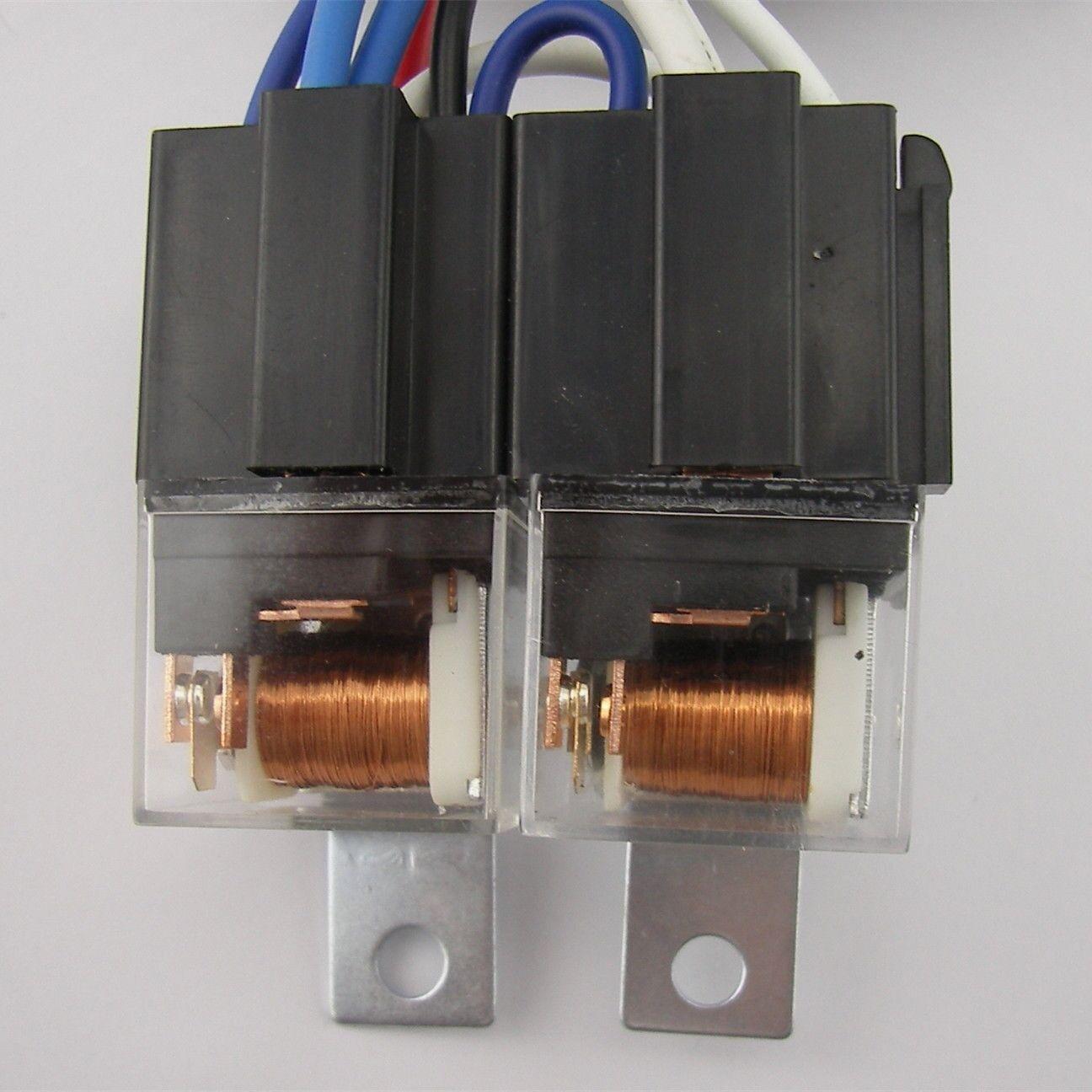 4 Headlight Relay Wiring Harness H4 Headlamp Light Bulb Ceramic A 2 Of 12 Socket Plugs Set 3