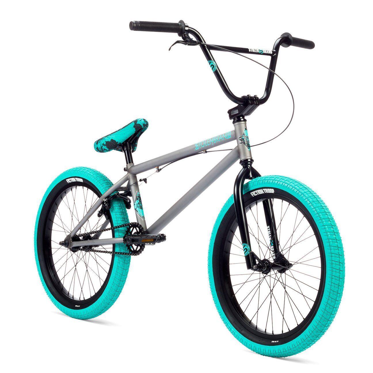"Stolen Casino XL 20"" BMX Bike Phosphate Raw & Caribbean Green Complete BMX Bike"