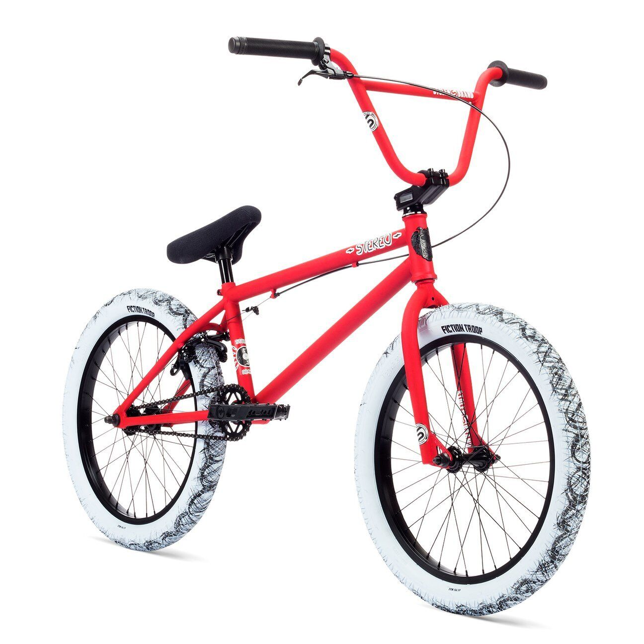 "Stolen Stereo 20"" BMX Bike Matte Red Complete BMX Bicycle"
