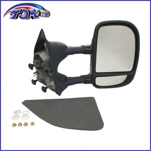 NEW TOWING MANUAL SIDE VIEW MIRROR DRIVER RIGHT RH FOR FORD SUPER DUTY TRUCK