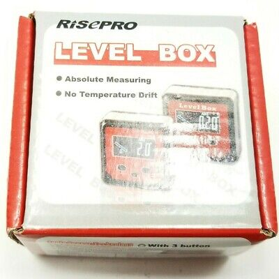 Risepro Digital Level Box Angle Gauge Protractor Inclinometer Bevel Box