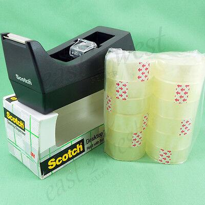 Black Scotch 3m Color Desktop 1 Core Dispenser 12 Clear Tape Rolls