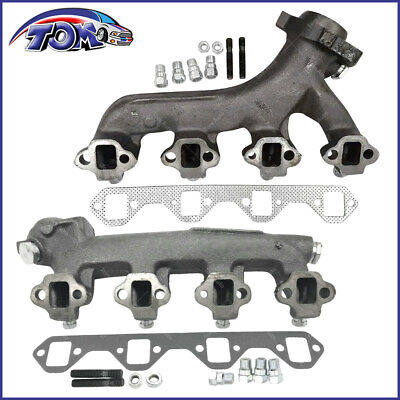 NEW LEFT & RIGHT EXHAUST MANIFOLD FITS FORD F-250 F-350 5.8L