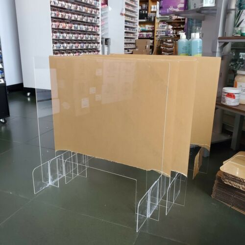 SNEEZE GUARD Acrylic Plexiglass Table Desk Counter Shield 30w x 24h