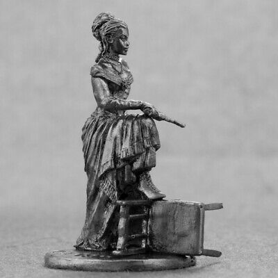 Saloon Mistress Metal Toy Soldier 54mm Girl Figurine Woman Figure Tin Female - Mistress Metal