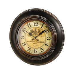 Antique Reproduction Paris Perfumers Wall Clock - Battery Operated