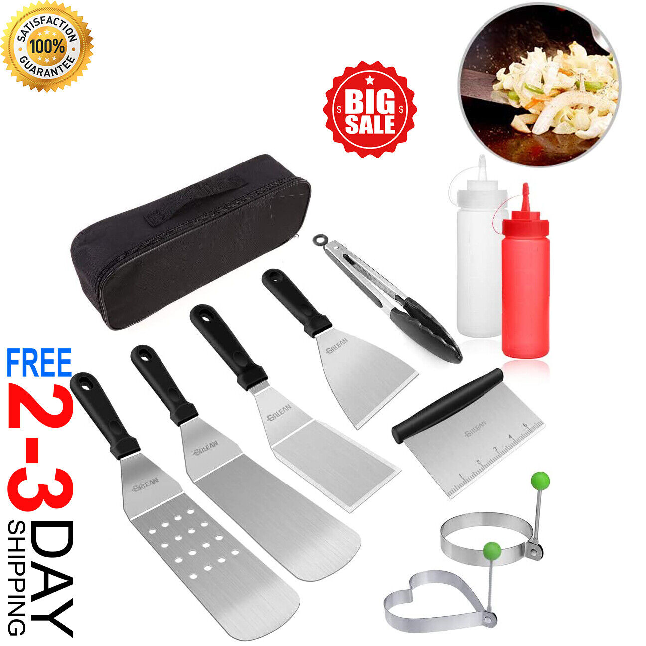 Blackstone Grill Accessories Kit, 10-PCS Griddle Barbecue To