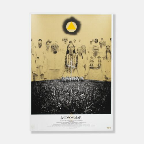 """MIDSOMMAR HARGA BY IDEA OSHIMA 24X34"""" A24 FILMS POSTER EDITION OF 500 SOLD OUT"""