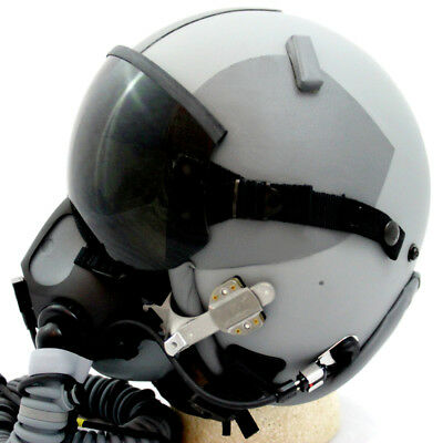 NEW HGU-GENTEX 55/P USA LG Jet Fighter Pilot Helmet MBU SN Edge 20/P Oxygen - Fighter Pilot Helmet