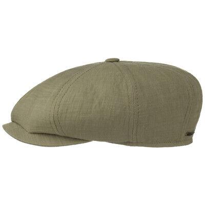 STETSON Many Cotton Ballonmütze Flatcap Schirmmütze Mütze Flat Cap oliv L 59 cm Cotton Flat Cap