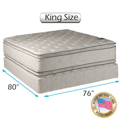 Natural Dream Pillowtop Mattress set with Bed Frame (King Size) - Medium Soft  (Dream Mattress Set Mattress)