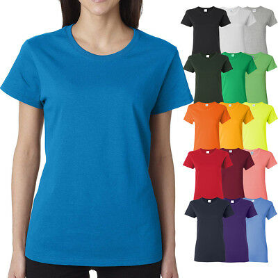 Gildan Ladies MISSY FIT T-Shirt Preshrunk Womens Short Sleeve Tee S-XL 2X, 3X - Gildan Ladies Tee