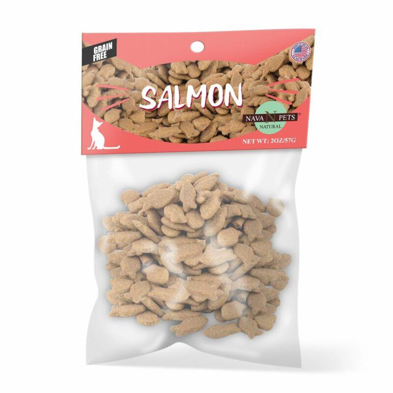 Nava Pets Wild Salmon Grain-Free Cat Treats - 2OZ
