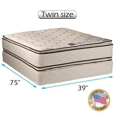 (Dream Solutions USA Coil Comfort Pillow Top Mattress and Box Spring Set)