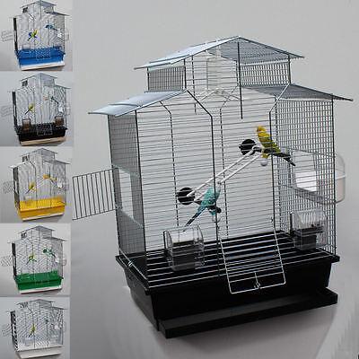 XXL Vogelkäfig Vogelbauer Wellensittich Finken Kanarien Käfig Top Qualität  NEU ✔6 FARBEN   ✔2 SITZSTANGEN   ✔2 NÄPFE   ✔VIEL ZUBEHÖR