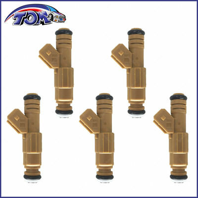 NEW SET OF 5 FUEL INJECTORS FOR VOLVO S60 S80 C70 V70 XC70 XC90  0280155831