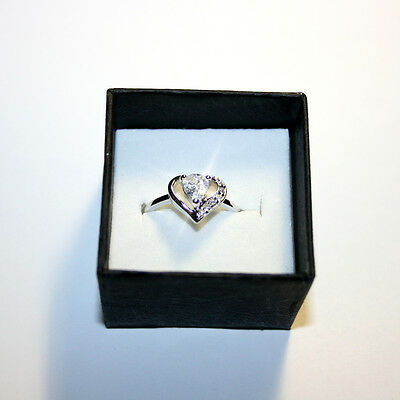 - Pear Diamond Alternatives Promise Engagement Ring 14k White Gold over 925 SS